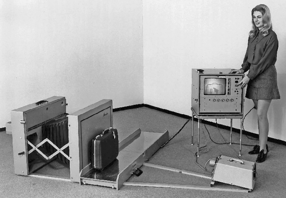 22. The Philips Norelco Saferay, the first X-ray machine to be approved by the Federal Aviation Administration. Even at the height of the epidemic, the airlines resisted calls to physically screen all passengers.