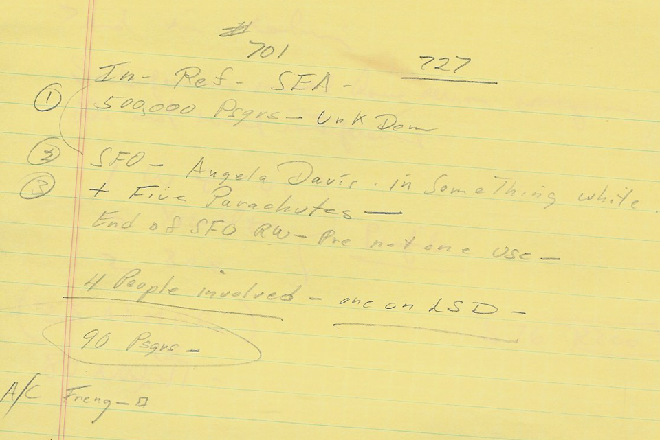 8. Holder's initial demands, as recorded by the head of Western Airlines' dispatch center in Los Angeles. (Private Collection of William Newell)