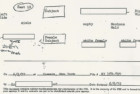 A seating chart for the hijacked flight, as recounted by a passenger to the FBI.