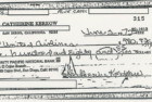 The check that Cathy Kerkow bounced while attempting to pay for the hijackers' plane tickets.